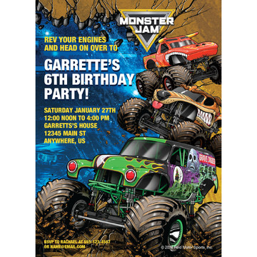 Monster Jam Personalized Invitation (Each)