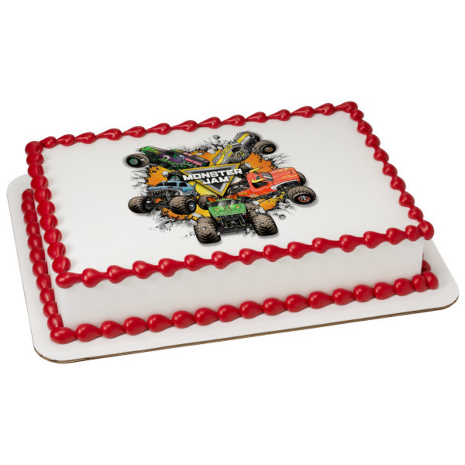 View larger image of Monster Jam Quarter Sheet Edible Cake Topper (Each)