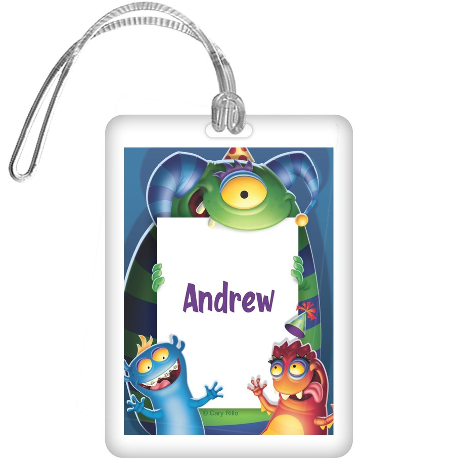 View larger image of Monster Party Personalized Bag Tag (each)