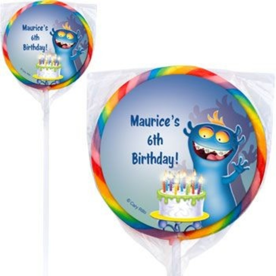 View larger image of Monster Party Personalized Lollipops (pack of 12)
