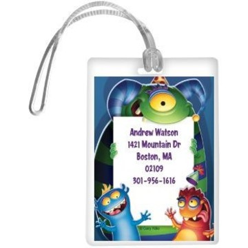Monster Party Personalized Luggage Tag (each)