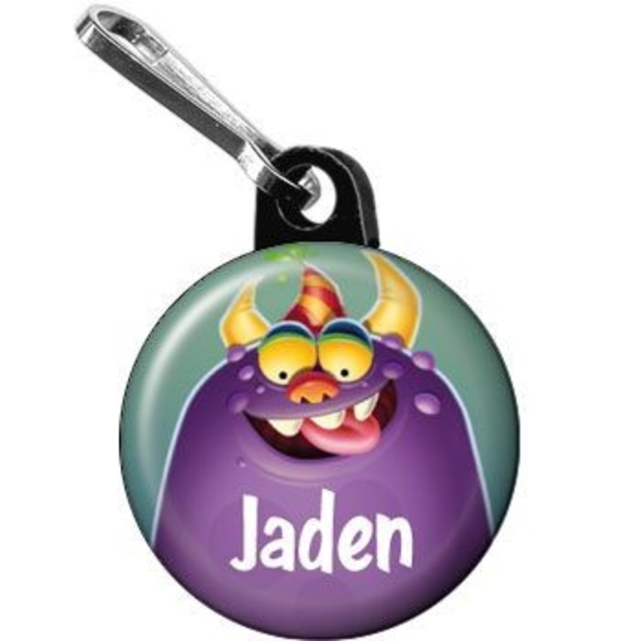 View larger image of Monster Party Personalized Mini Zipper Pull (each)