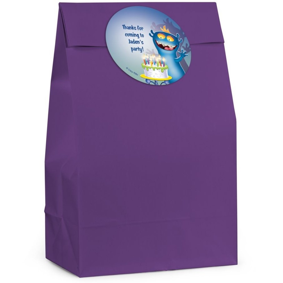 View larger image of Monster Personalized Favor Bag (Set Of 12)
