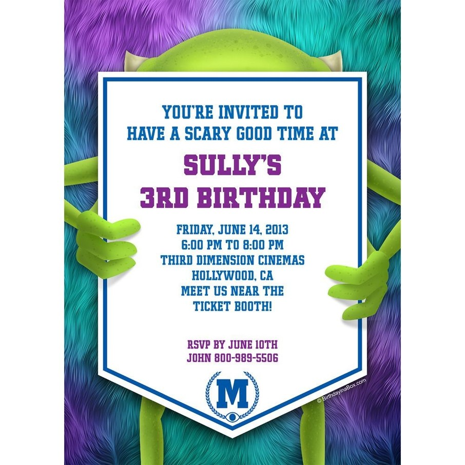 View larger image of Monster Personalized Invitation (Each)