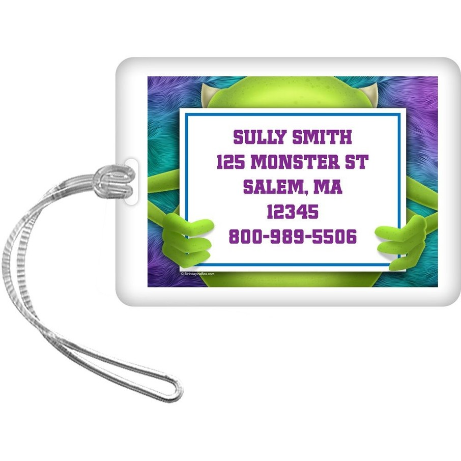 View larger image of Monster Personalized Luggage Tag (Each)