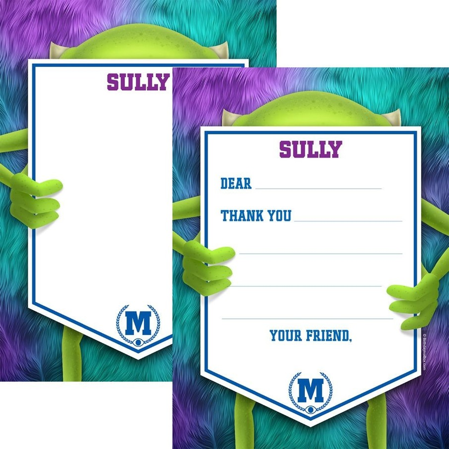 View larger image of Monster Personalized Thank You Note (Each)