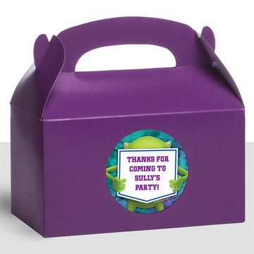 Monster Personalized Treat Favor Boxes (12 Count)