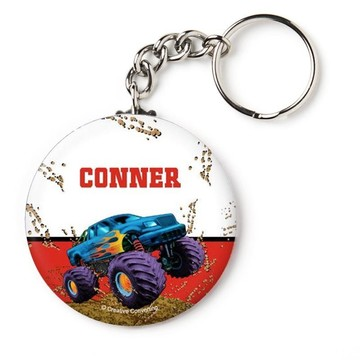 """Monster Truck Personalized 2.25"""" Key Chain (Each)"""