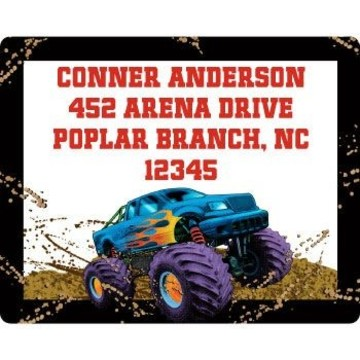Monster Truck Personalized Address Labels (sheet of 15)