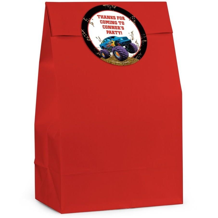 View larger image of Monster Truck Personalized Favor Bag (Set Of 12)