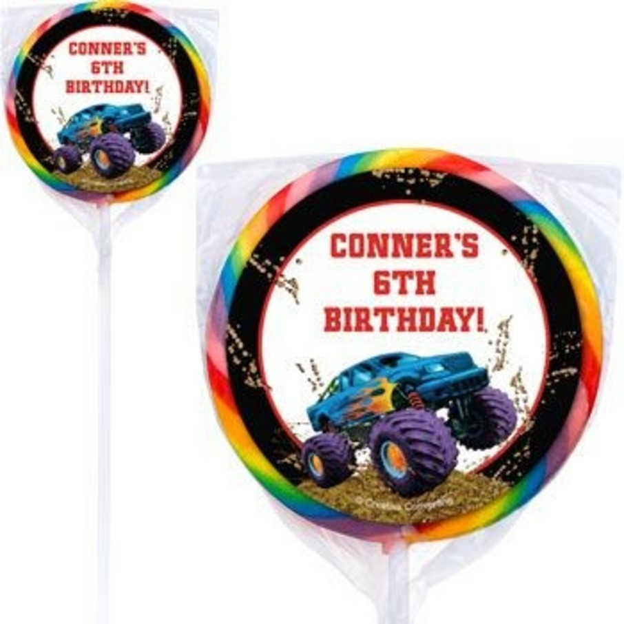 View larger image of Monster Truck Personalized Lollipops (pack of 12)