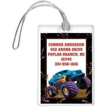 Monster Truck Personalized Luggage Tag (each)