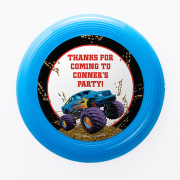Monster Truck Personalized Mini Discs (Set of 12)