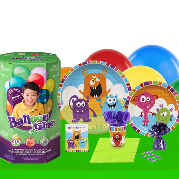 Monsters 16 Piece Tableware Helium Tank