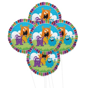 Monsters 5pc Foil Balloon Kit