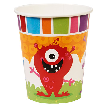 Monsters 9oz Paper Cups (8)