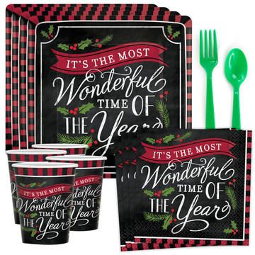 Most Wonderful Time of The Year Standard Tableware Kit (Serves 8)
