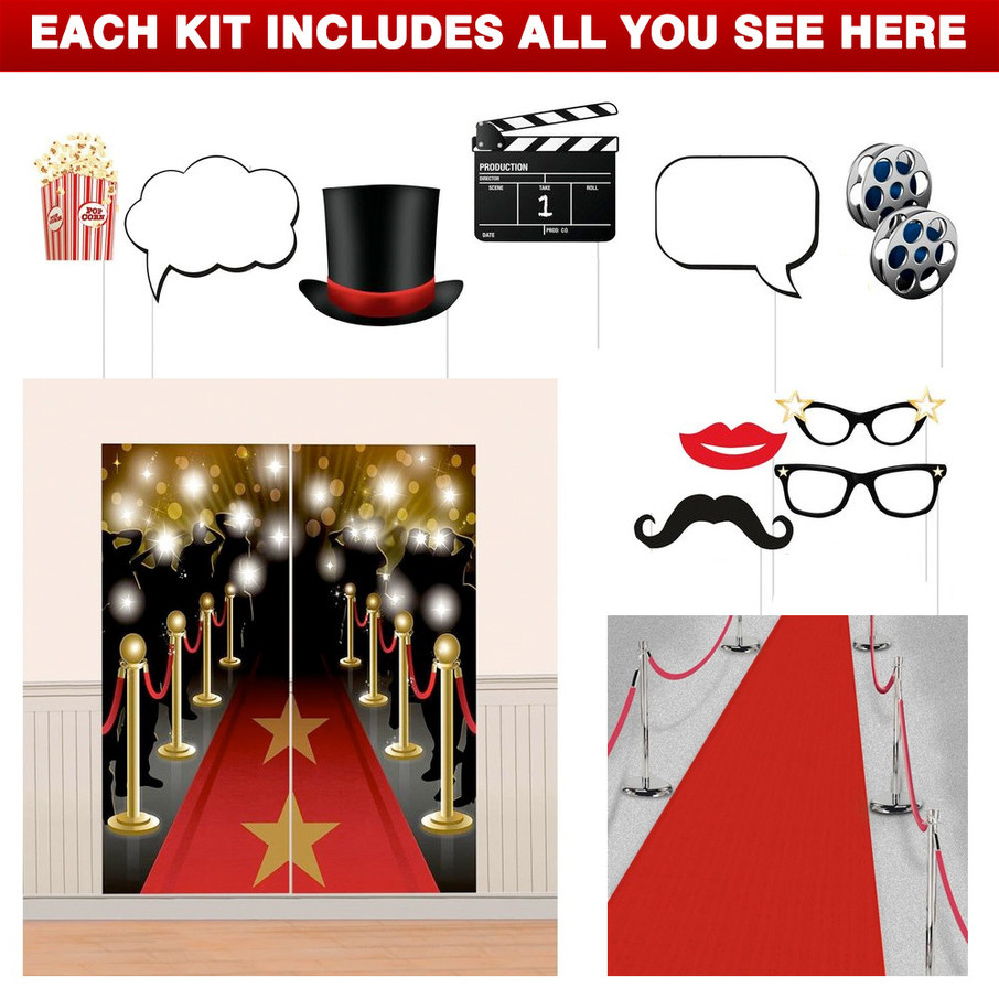 View larger image of Movie Party Decoration Kit