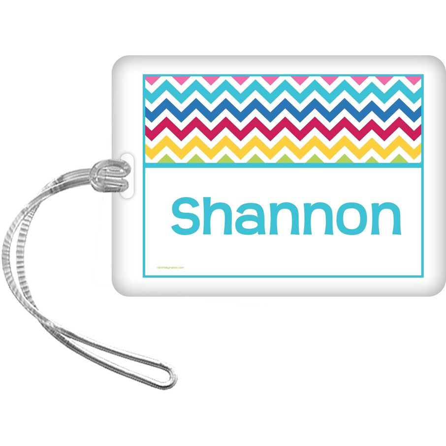 View larger image of Multi Chevron Personalized Bag Tag (Each)