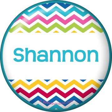 Multi Chevron Personalized Button (Each)