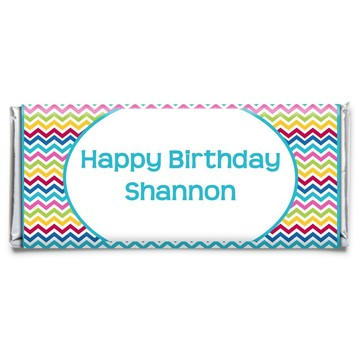 Multi Chevron Personalized Candy Bar Wrapper (Each)