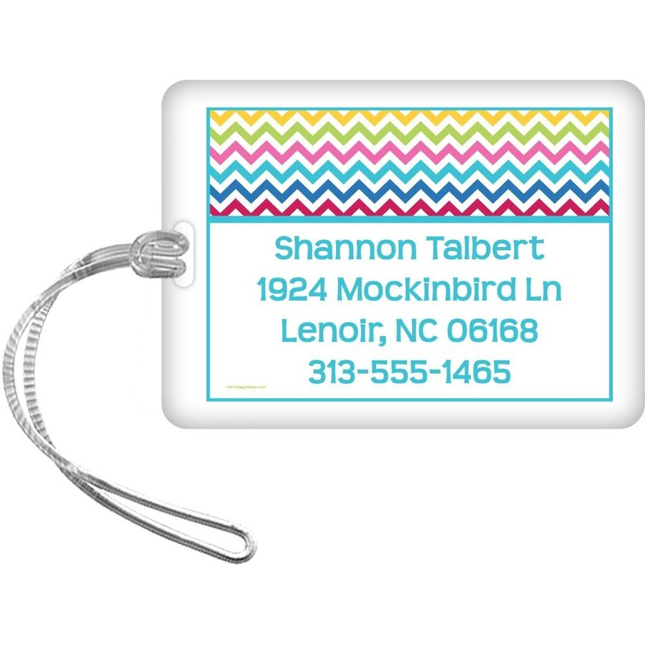 View larger image of Multi Chevron Personalized Luggage Tag (Each)