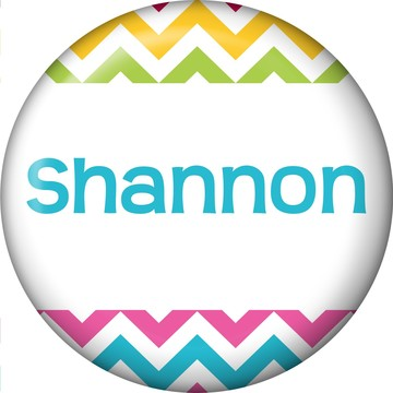 Multi Chevron Personalized Mini Button (Each)