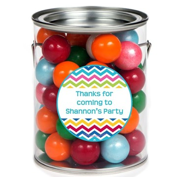 Multi Chevron Personalized Paint Can Favor Container (6 Pack)