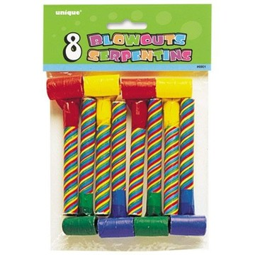 Multicolor Striped Blowouts (8 Count)