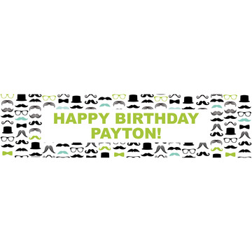 Mustache Man Personalized Banner (each)