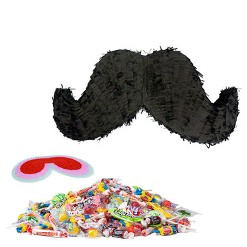 Mustache Party Pinata Kit