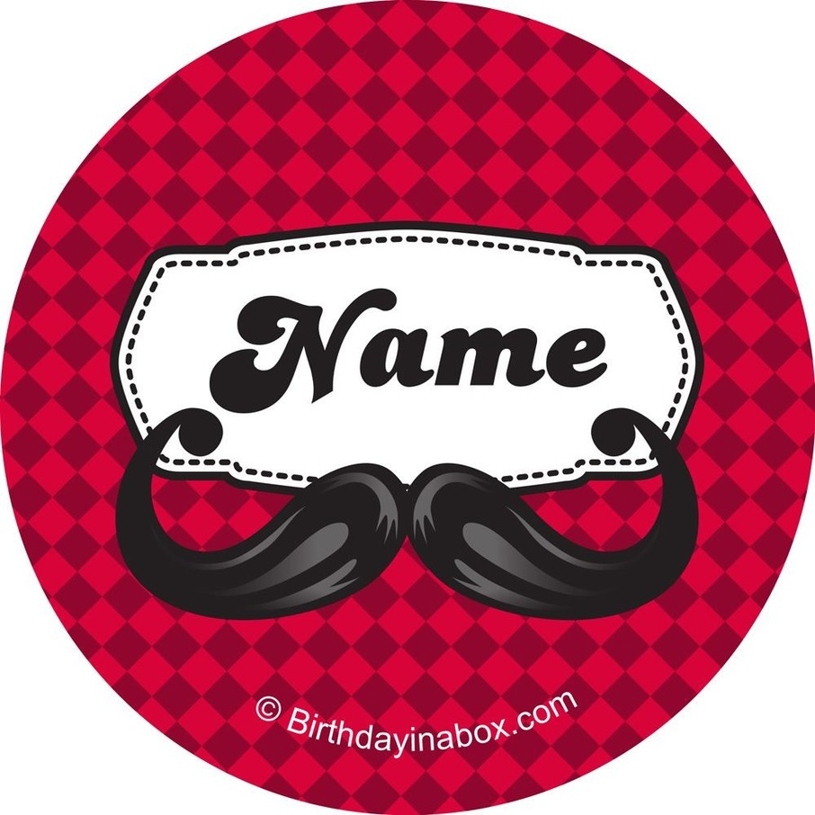 View larger image of Mustache Personalized Mini Stickers (Sheet of 24)