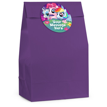 My Little Party Pony Personalized Favor Bag (12 Pack)