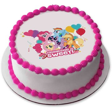 "My Little Pony 7.5"" Round Edible Cake Topper (Each)"