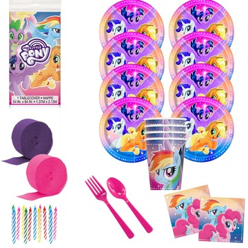My Little Pony Flying Ponies Deluxe Birthday Party Tableware Kit (Serves 8)