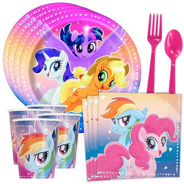 My Little Pony Flying Ponies Standard Birthday Party Tableware Kit (Serves 8)