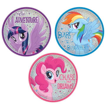 My Little Pony Friendship Adventures 7 Dessert Plate, 8ct