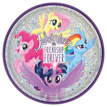 My Little Pony Friendship Adventures 9 Lunch Plate, 8ct