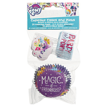 My Little Pony Friendship Adventures Cupcake Wrappers & Picks, 48each