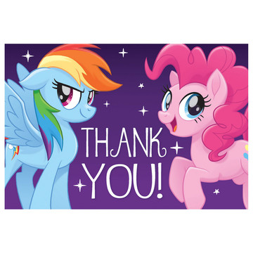 My Little Pony Friendship Adventures Postcard Thank You, 8ct