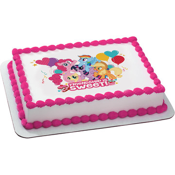 My Little Pony Quarter Sheet Edible Cake Topper (Each)