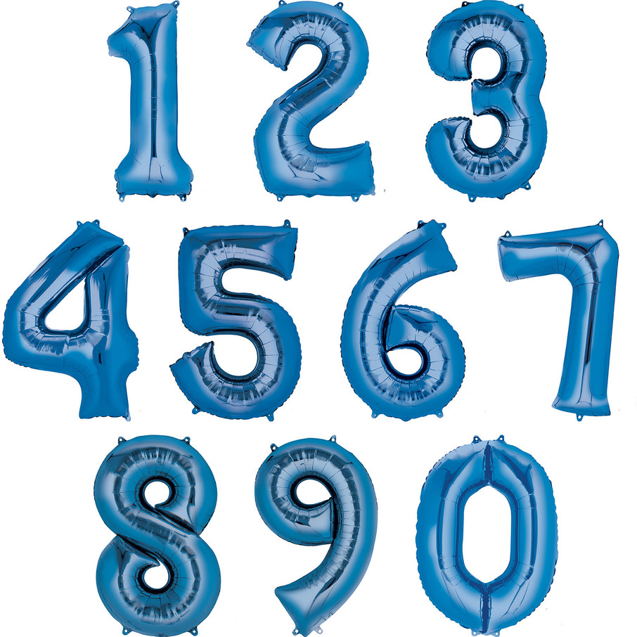 View larger image of Mylar Blue Number Balloons (each)
