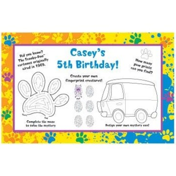 Mystery Dog Personalized Activity Mats (8-pack)
