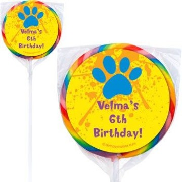 Mystery Dog Personalized Lollipops (pack of 12)