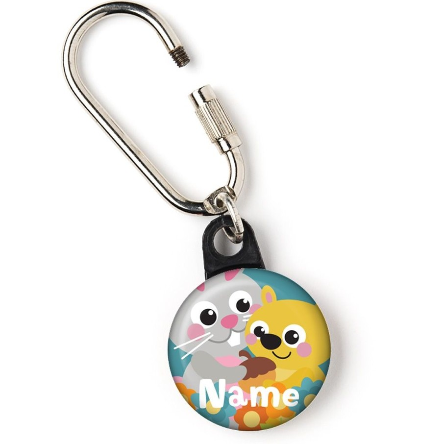 """View larger image of Nature Blue Personalized 1"""" Carabiner (Each)"""