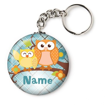 "Nature Blue Personalized 2.25"" Key Chain (Each)"