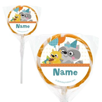 """Nature Blue Personalized 2"""" Lollipops (20 Pack)"""