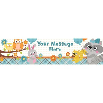 Nature Blue Personalized Banner (Each)