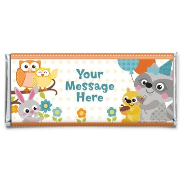 Nature Blue Personalized Candy Bar Wrapper (Each)