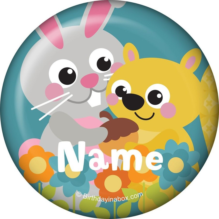 View larger image of Nature Blue Personalized Mini Button (Each)